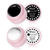 5ml Soak Off UV Gel Nagellack Gellack Nail Polish Schwarz Weiß Farbe UR SUGAR