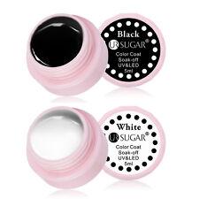 5ml UR SUGAR Soak Off Nail Art UV Gel Polish Nail Varnish Black White Color