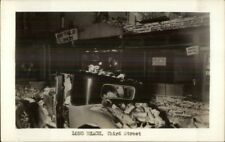 Long Beach CA Earthquake Car Under Rubble on Third St. Real Photo Postcard