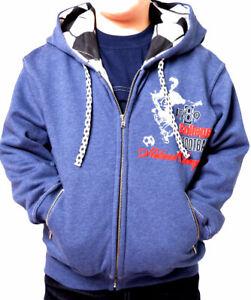 Kinder Jungen Jacke Kapuzenjacke Sweatshirt 2/92 4/104 6/116 8/128 10/140 12/152