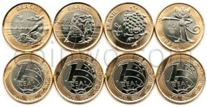 Brazil 1 Real Olympic games 2016 bimetall 4 coins set #4 UNC (#2364)