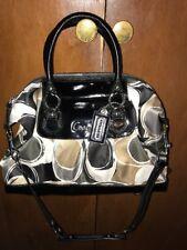 Coach Ashley Signature Gray/black , Cream Convertible Handbag F17650