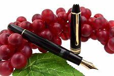 NOS Montblanc Meisterstuck 146 Black & Gold LeGrand Fountain Pen 14k Uni-Color F