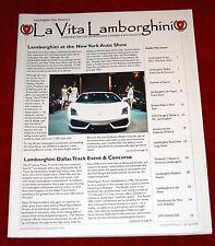 Lamborghini Club America Newsletter La Vita Lamborghini Spring 2008