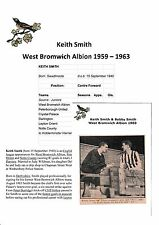 BOBBY HOPE & KEITH SMITH WEST BROMWICH ALBION ORIGINAL SIGNED NEWSPAPER CUTTING