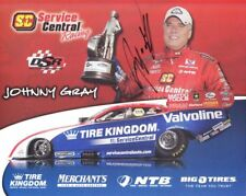 2012 Johnny Gray signed Service Central Dodge Charger Funny Car NHRA postcard