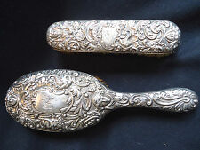 "ESTATE: ANT. STERLING  BRUSH & CLOTHES BRUSHES-""WM COMYNS"" LONDON-MUSES 1894"