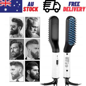 Quick Beard Straightener Hair Styler Multifunctional Comb Curler Show Cap Men AU