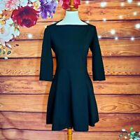 Kate Spade Broome Street Black Ponte Flare Dress Size S
