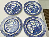 CHURCHILL Willow Blue Dinner Plates (4) Plates 10.25""