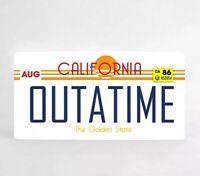Ritorno al Futuro Marty McFly OUTATIME DeLorean Targa in metallo 30*15