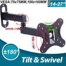 Tilt & Swivel TV Wall Mount Bracket For 14 16 17 18 19 20 21 22 24 Inch LCD LED