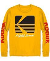 Kodak Mens T-Shirt Yellow Size 2XL Long Sleeve Crewneck A Kodak Moment Tee 072