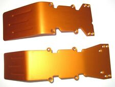 T-Maxx, E-Maxx Orange Anodized Aluminum skid plate set New front and Rear