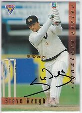 1994 FUTERA CRICKET SIGNATURE REDEMPTION: STEVE WAUGH #301/1000 TEST CAPTAIN