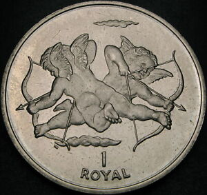 GIBRALTAR 1 Royal 2002 - Cherubs - aUNC - 2125 ¤