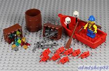 LEGO - 47 pcs Lot Treasure Chest w/ Pirate Cutlass Dynamite Jewels Gold Barrel