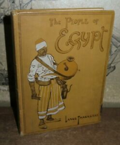 1916 THE PEOPLE OF EGYPT by THACKERAY 32 COLOUR PLATES + 37 ILLUSTRATIONS NILE @