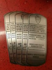 Ducati frame identification plate ends 60' early 70' singles and twin 250 350 45
