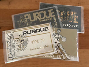 PURDUE BOILERMAKERS BASKETBALL MEDIA GUIDES - 4 Guides