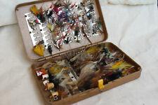 Vintage Perrine ? Fly Fishing Box + Flies & Lures