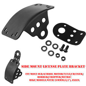 1×Motorcycle Bike Refitted Side Mount License Plate Taillight Bracket Universal