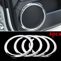 Chrome Door Stereo Speaker Cover Trim Decor Ring For Jeep Patriot Compass 07-15