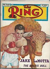 October 1949 Issue Of The Ring Magazine With Jake LaMotta On Cover READ!