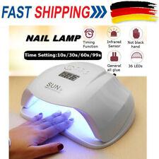54W SUN UV LED Lampen Lichthärtungsgerät Nagel Trockner Gel Dryer Maniküre NEU