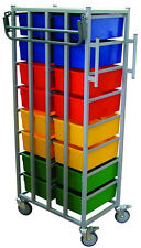 Professional Heavy Duty Portable 16 Drawer Trolley Laundry Clothes Cart Rail