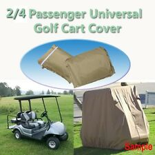 Taupe Golf Cart Cover Rain 2/4 Passenger For Yamaha Club Car EZ-GO Waterproof