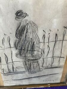 l s lowry signed Drawing