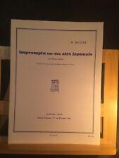 Henri Büsser Impromptu sur des airs japonais pour harpe à pédale partition Leduc