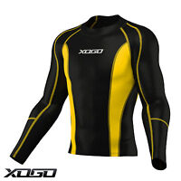 XOGO Mens Compression Armour Base Layer Top Long Sleeve Thermal Gym Sports Shirt
