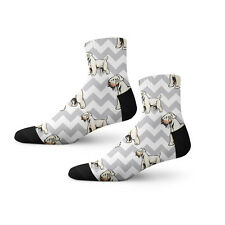 Irish Soft Coated Wheaten Terrier Dog Gray Zigzag Novelty 3.5 in Men Women Socks