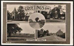 POTTER STREET, HARLOW, ESSEX multi-view postcard