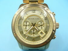 New Old Stock MICHEAL KORS 45mm Chronograph Gold Plated MK8077 Quartz Men Watch