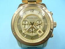 New Old Stock MICHEAL KORS 45mm Chronograph Gold Plated MK8077 Quartz Men Watch