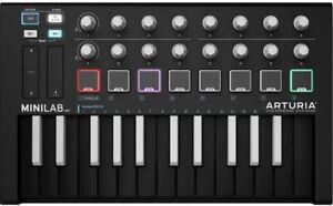 Arturia MiniLab MKII Inverted MIDI Slim Key Controller Keyboard Black -UC
