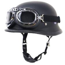 Motorcycle Helmet Half Open Face Pilot Goggles Scooter Chopper Street Bike L