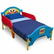 Sesame Street Elmo Bedroom Toddler Kids Bed Sleep 2-Safe Rails Bright Colors