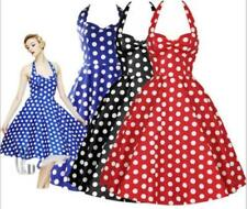 Knee Length Cotton Blend Party/Cocktail Polka Dot Dresses for Women