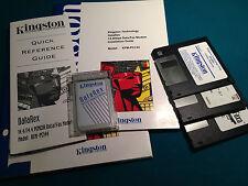 14.4 Kbps PCMCIA Data/Fax Modem Kingston: vero reperto per collezionisti!
