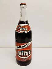 VINTAGE HIRES ROOT BEER QUART GLASS BOTTLE FULL-BOTTLED BY HOLLY FROM YOUNGSTOWN