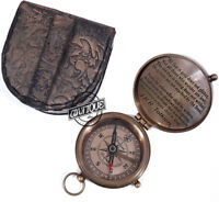Old Style Nautical Compass Brass Hand-Made Round Pocket Solid Christmas Gifts