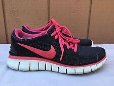 EUC Nike Womens Free Run+ Black/Pink  395914-060 US Sz 6.5