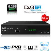 Europe H.265 HEVC DVB-T2 Digital Converter Box Tuner DVBT2 Decorder TV Receiver