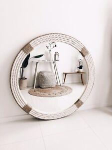 Handmade Nautical Hampton Style Round Rope Bathroom Mirror Large 80cm