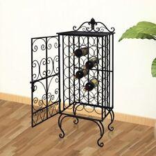 Metal Wine Cabinet Rack Stand for 28 Bottles Display Storage Liquor Home Bar