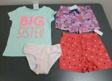 Lot of Toddler Girls' 3T/4T Clothes - Big Sister Shirt, Shorts, PJs, Swim Bottom